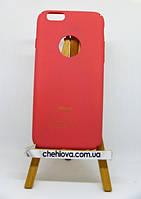 Гибкая полиуретановая накладка с Soft Touch покрытием для IPhone 7 красная