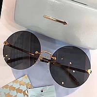 Крутые солнцезащитные очки Fendi LUX коричневые