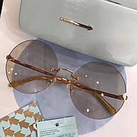 Крутые солнцезащитные очки Fendi LUX бежевые