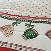 Готовое вафельное полотенце с чашками и тюльпанами 45х70 см