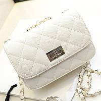 Сумка-клатч женская Chanel Multicolor white (белый)