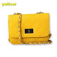 Сумка-клатч женская Chanel Multicolor yellow (желтый)