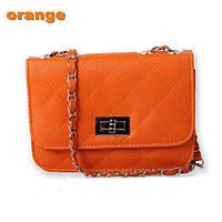 Сумка-клатч женская Chanel Multicolor orange (оранжевый)
