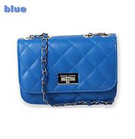 Сумка-клатч женская Chanel Multicolor blue (синий)