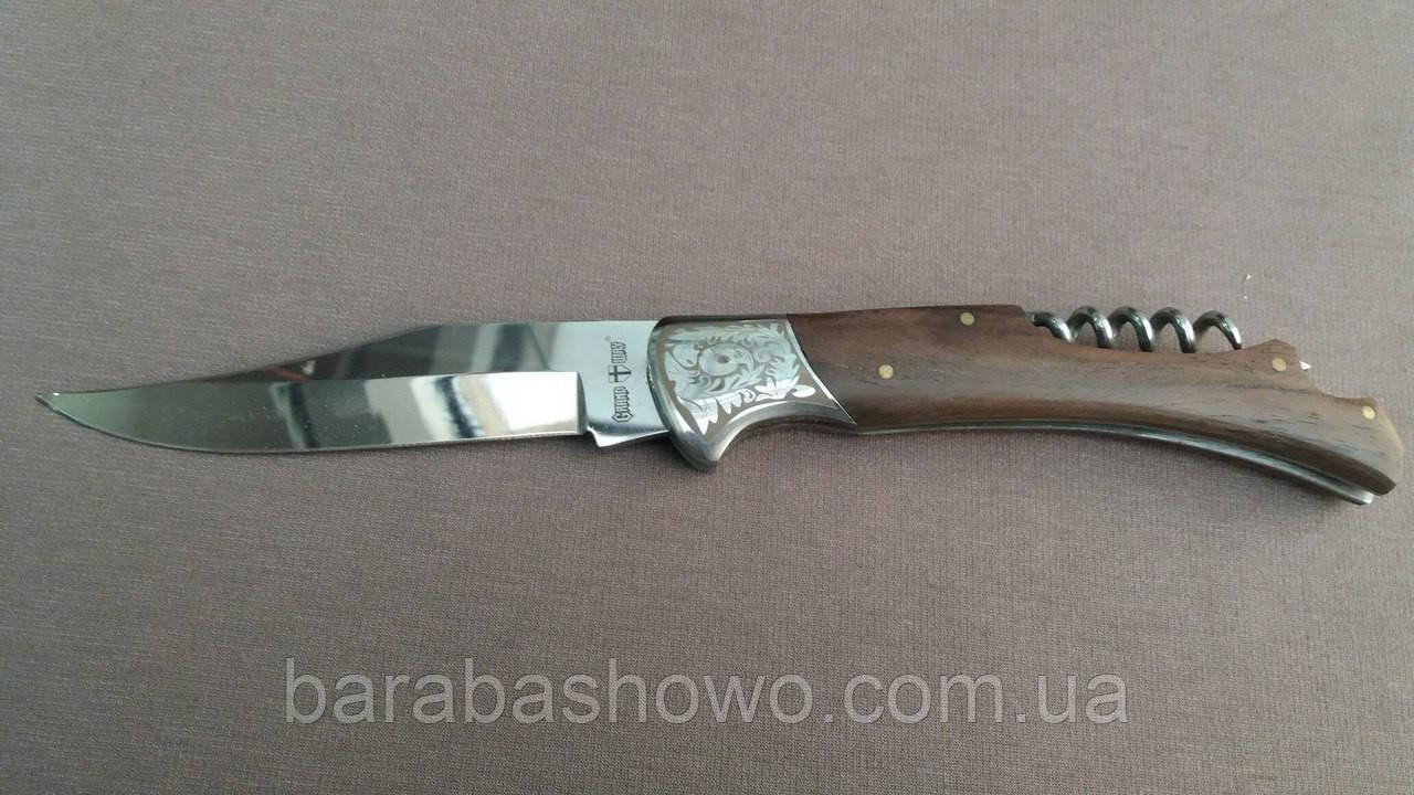 Ніж складний з Штопором. Туристичний якісний ножик. Оригінальне Фото