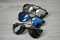 Солнцезащитные  очки авиаторы капли унисекс ажурные