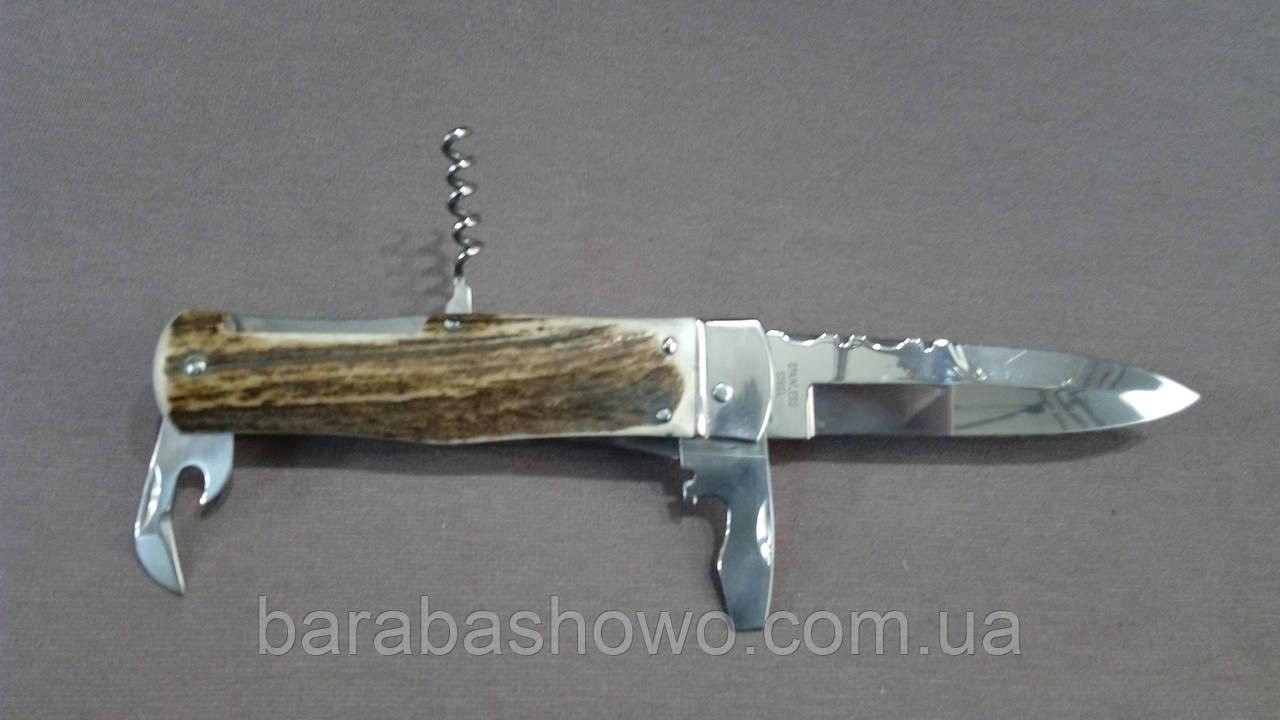 Нож выкидной 8042 AHPS Рог оленя Многофункциональный подарочный ножик