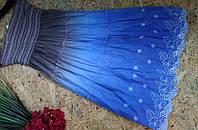 Юбка из кружева MEGGI 606 голубой  42-46р