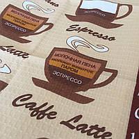 Готове вафельний рушник з видами кави 45х70 см, фото 1