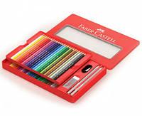 Цветные карандаши Faber-Castell Замок 48 цветов+аксессуары в металлической коробке 115888