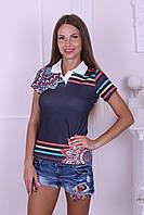 Стильная женская футболка с сеткой