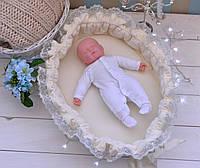 Позиционер (гнездышко)для малыша Babynest Облачко молочный