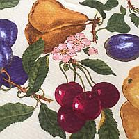 Готовое вафельное полотенце с фруктами  45х70 см, фото 1