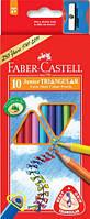 Цветные карандаши Faber-Castell 10 цветов трехгранные JUMBO картонная коробка 116510