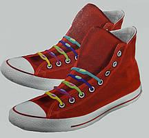 Силіконові кольорові шнурки (не треба зав'язувати)