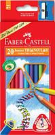 Цветные карандаши Faber-Castell 20 цветов трехгранные JUMBO картонная коробка 116520