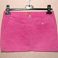 Джинсовая розовая юбка Bershka S,M