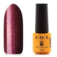 Гель-лак F.O.X  6 мл pigment №026 (бордовый с розовым шиммером), фото 1