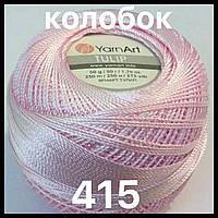 Турецкая летняя пряжа для вязания YarnArt Tulip (тулип) 415 розовый