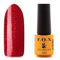 Гель-лак F.O.X  6 мл pigment №031 (красно-бордовый с красно-золотыми блестками), фото 1