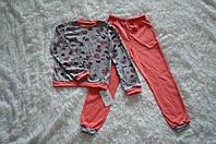 Детская хлопковая пижама для девочки 92-98-104