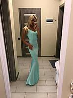 Длинное элегантное женское платье из шелка P6616