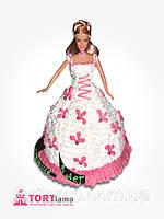 """Детский торт на заказ """"Принцесса в цветах"""" с подарком"""