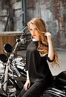 Женская блузка свободного кроя короткий рукав