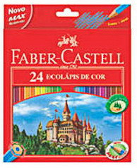 Цветные карандаши Faber-Castell Замок 24 цвета + точилка картонная коробка 120124