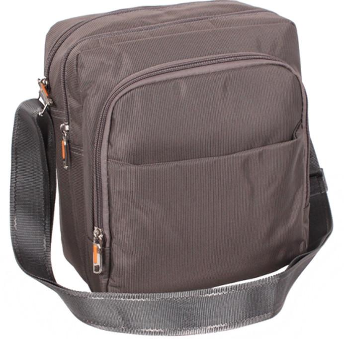 Вертикальная мужская сумка через плечо XL7337GREY серый