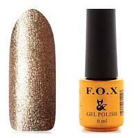 Гель-лак F.O.X  6 мл pigment №048 (плотные золотые блесточки)