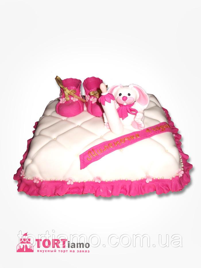 """Детский торт на заказ """"Зайчик на подушке"""""""