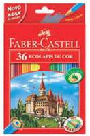 Цветные карандаши Faber-Castell Замок 36 цветов + точилка картонная коробка 120136