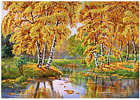 """Схема для вышивки бисером """" Осенний пруд"""""""