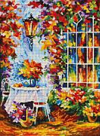 Схема для вышивки бисером Осенний столик