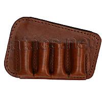 Патронташ на приклад (12 калібр, 4 комірки), коричневий