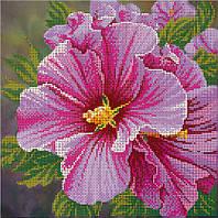 """Схема для вышивки бисером """"Розовый цветочек"""""""