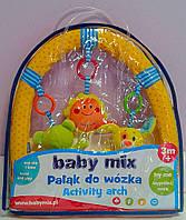 """Погремушка на коляску """"Дуга до візка: Сонечко, Мишка, Кролик"""" ТЕ-8451-94В Babymix Польша"""