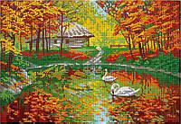 """Схема для вышивки бисером """"Лебединая осень"""""""