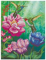 """Схема для вышивки бисером """"Цветущий сад колибри"""" ч2 ."""