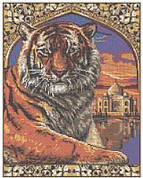 "Схема для вышивки бисером ""Тигр и Тадж Махал"""