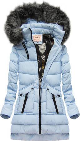 Женский зимний пуховик стёганый с капюшоном