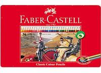 Цветные карандаши Faber-Castell Рыцари 36 цветов в металлической коробке 115846