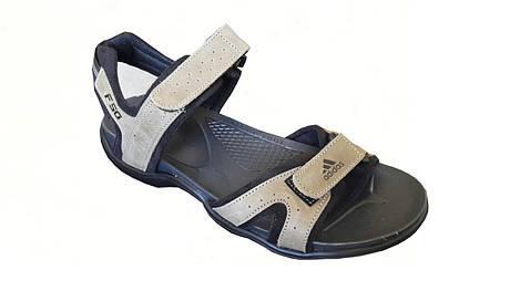 Мужские кожаные сандалии Adidas босоножки сандали  олифка