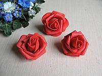 Розы из латекса красные 4 см