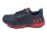 Мужские кроссовки лето текстиль Supo Energy Sport 1730 Black Red размера: 42