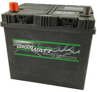 Аккумулятор GigaWatt 60 А (Asia) Гигават 60 Ампер (Азиат) GW 0185756013