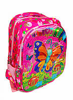 Школьный рюкзак для девочки с 3D рисунком и сортопедической спинкой