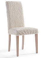 Чехлы на стулья  кремовые (набор 6 шт.)