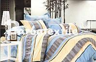 """Комплект постельного белья Евро двуспальный, ранфорс """"Полоска с волнами"""""""